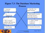 figure 7 3 the database marketing process