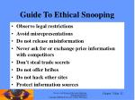 guide to ethical snooping