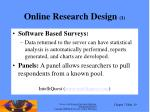 online research design 1