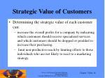 strategic value of customers