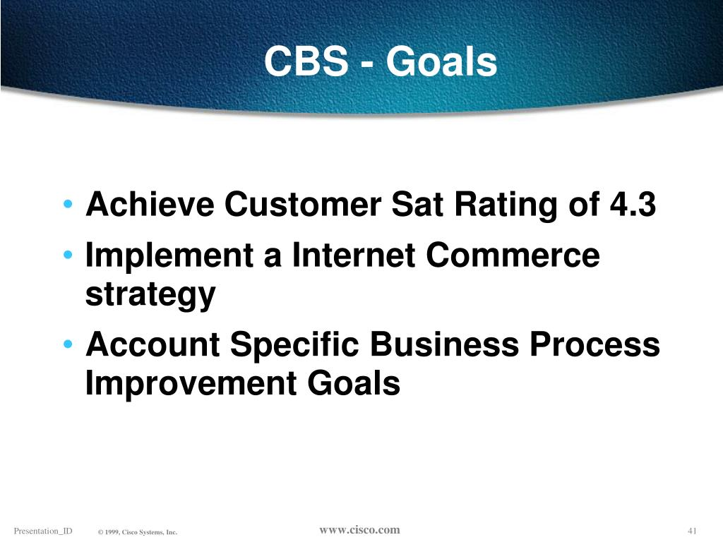 CBS - Goals