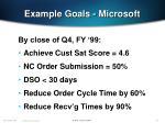 example goals microsoft