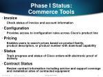phase i status commerce tools12