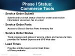 phase i status commerce tools13