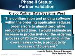 phase ii status partner validation21
