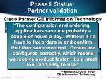phase ii status partner validation22
