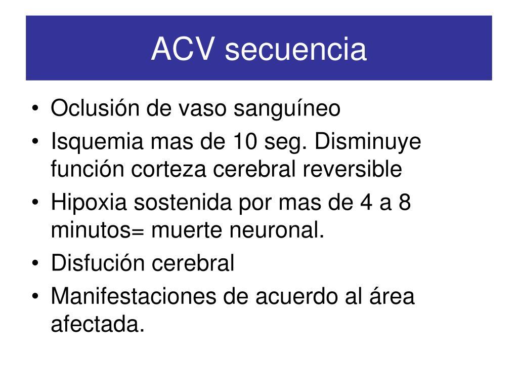 ACV secuencia
