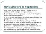 nova estrutura do capitalismo