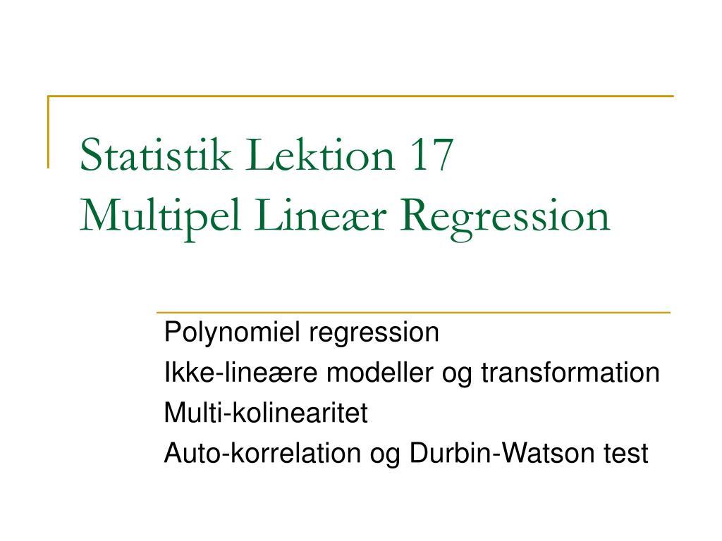 statistik lektion 17 multipel line r regression l.