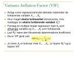 variance inflation factor vif