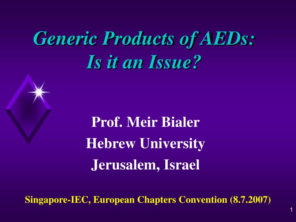generic products of aeds is it an issue l.