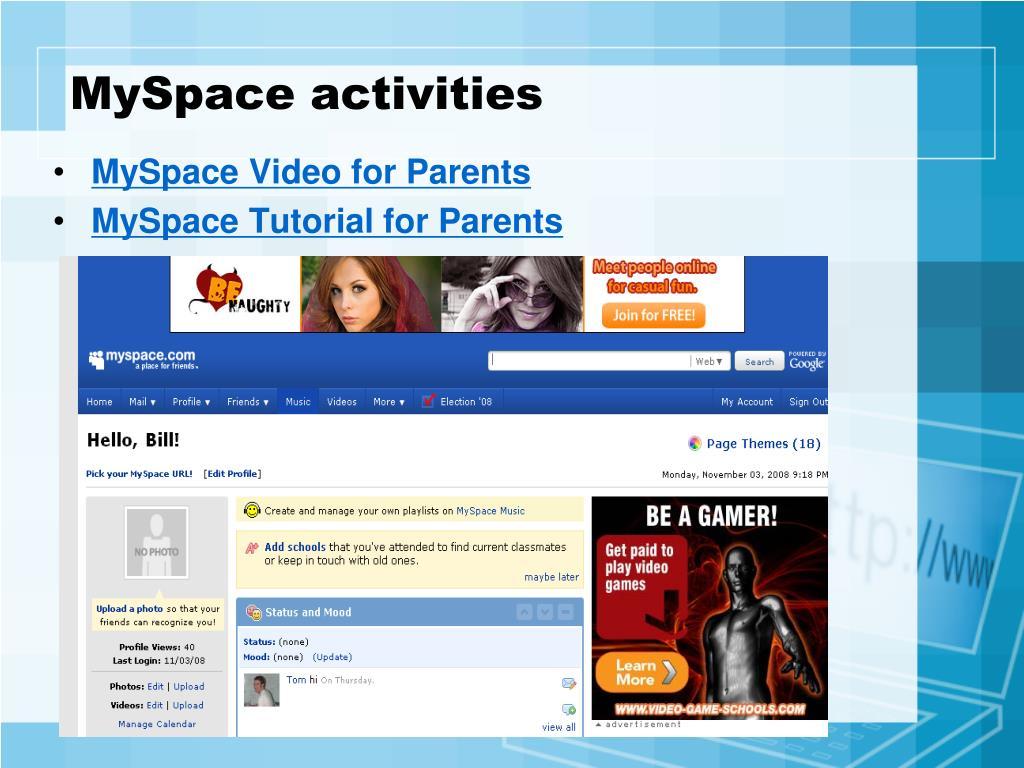 MySpace activities
