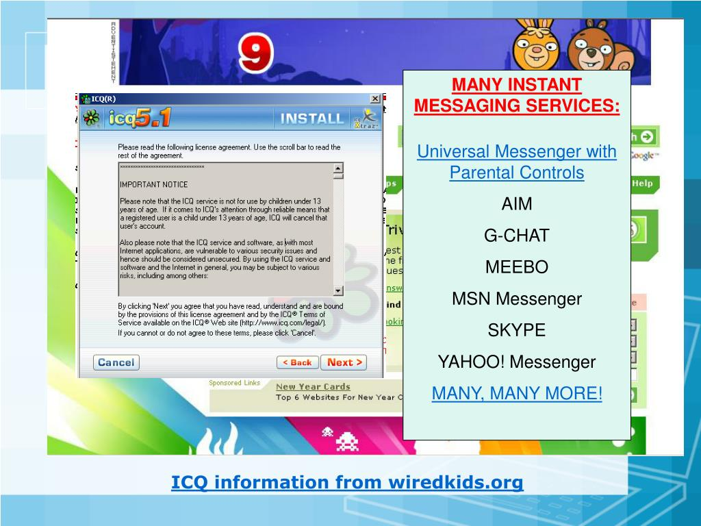MANY INSTANT MESSAGING SERVICES: