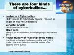 there are four kinds of cyberbullies