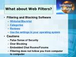 what about web filters