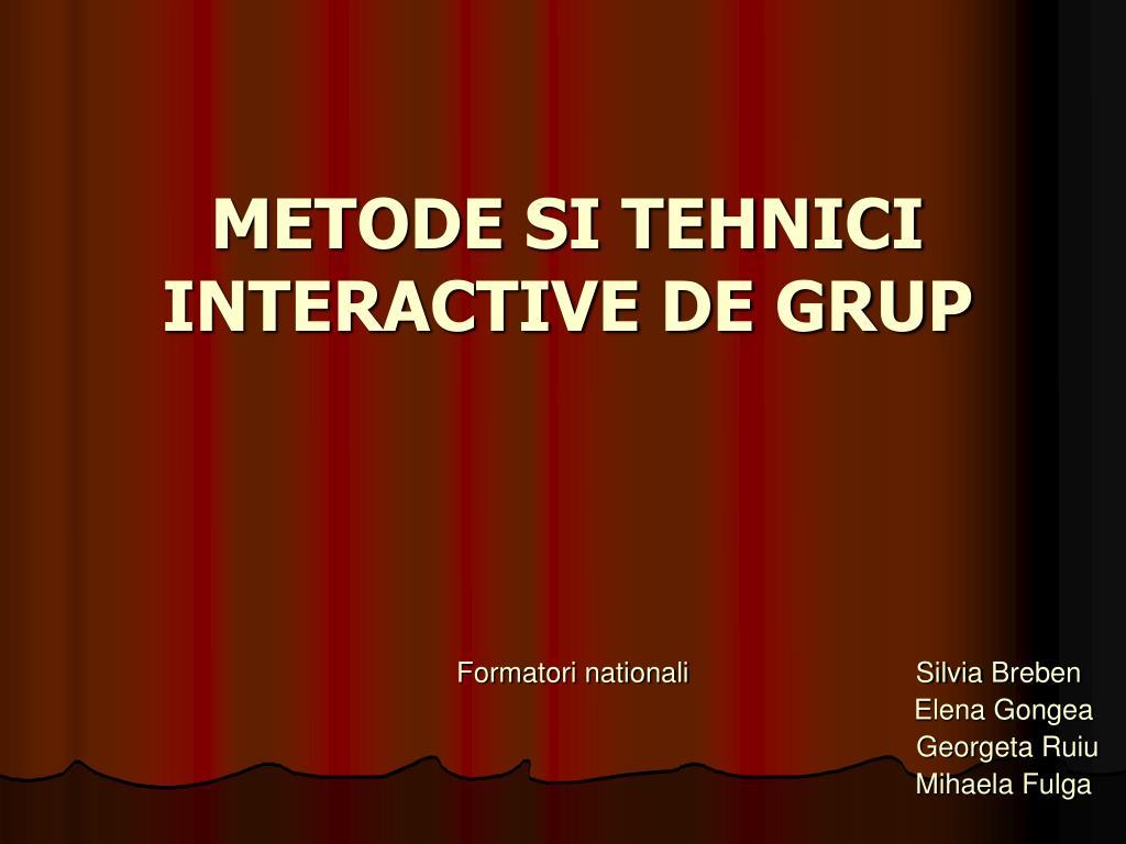 metode si tehnici interactive de grup l.