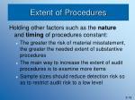 extent of procedures