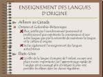 enseignement des langues d origine