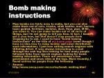 bomb making instructions
