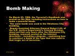 bomb making