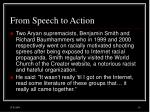 from speech to action