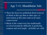 age 7 11 mandibular 3rds110