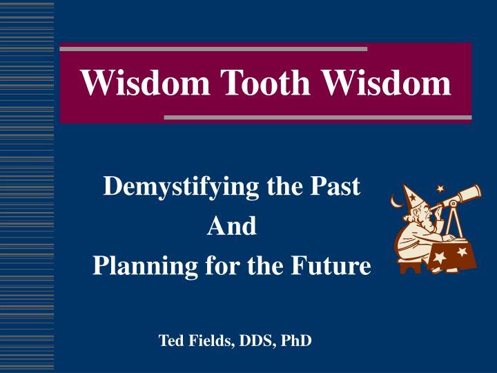 wisdom tooth wisdom n.
