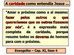 a caridade como entendia jesus35