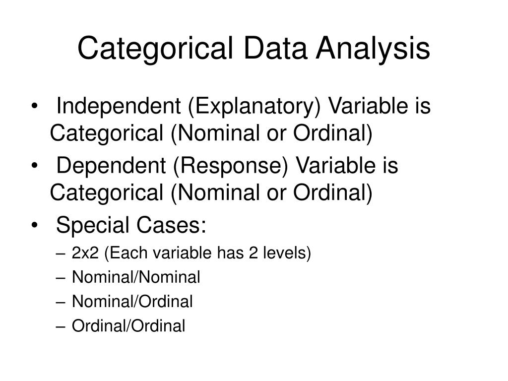 categorical data analysis l.