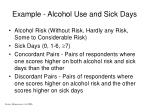 example alcohol use and sick days