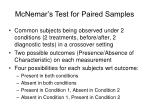mcnemar s test for paired samples