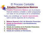 el proceso contable estados financieros b sicos
