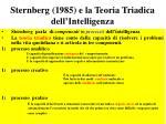 sternberg 1985 e la teoria triadica dell intelligenza