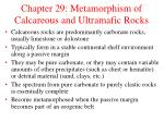 chapter 29 metamorphism of calcareous and ultramafic rocks