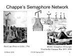 chappe s semaphore network