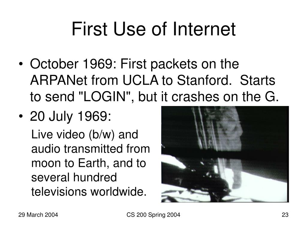 First Use of Internet