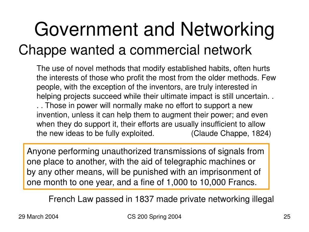 Government and Networking