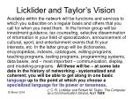 licklider and taylor s vision
