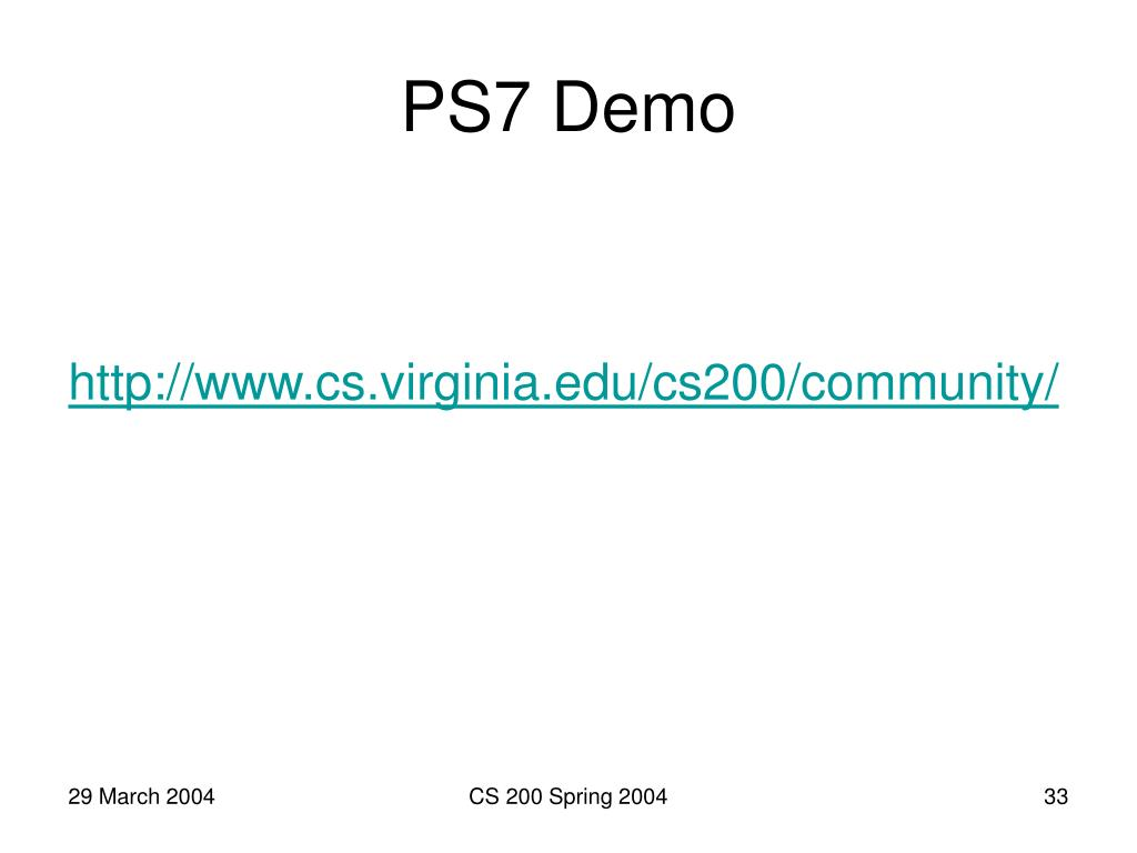 PS7 Demo