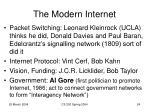 the modern internet