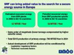 srf can bring added value to the search for a secure energy source in europe