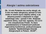 alergie i astma oskrzelowa