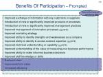 benefits of participation prompted102