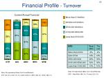 financial profile turnover