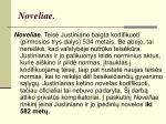 noveliae