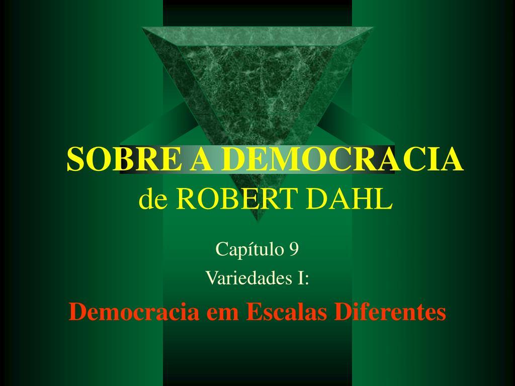 sobre a democracia de robert dahl l.