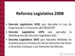 reforma legislativa 2008