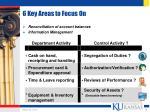 6 key areas to focus on