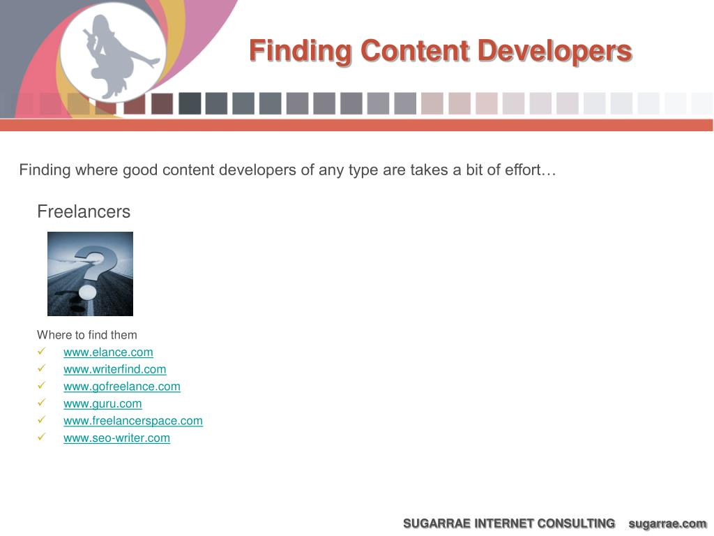 Finding Content Developers