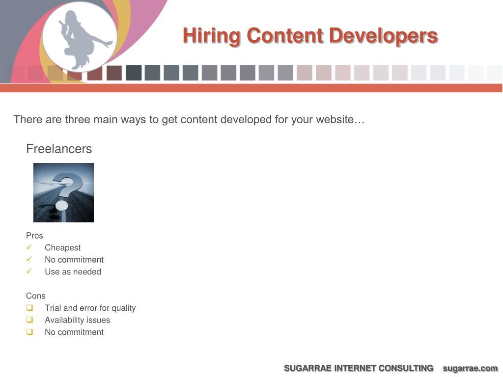 Hiring Content Developers